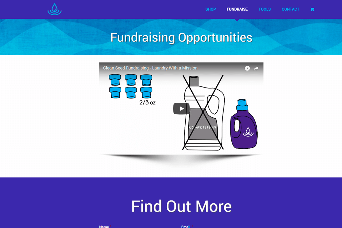 Clean Seed Fundraising - Web Design by Infinity Pxl in Indian Trail, NC